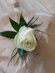 Standard Gents Ivory Rose Buttonhole